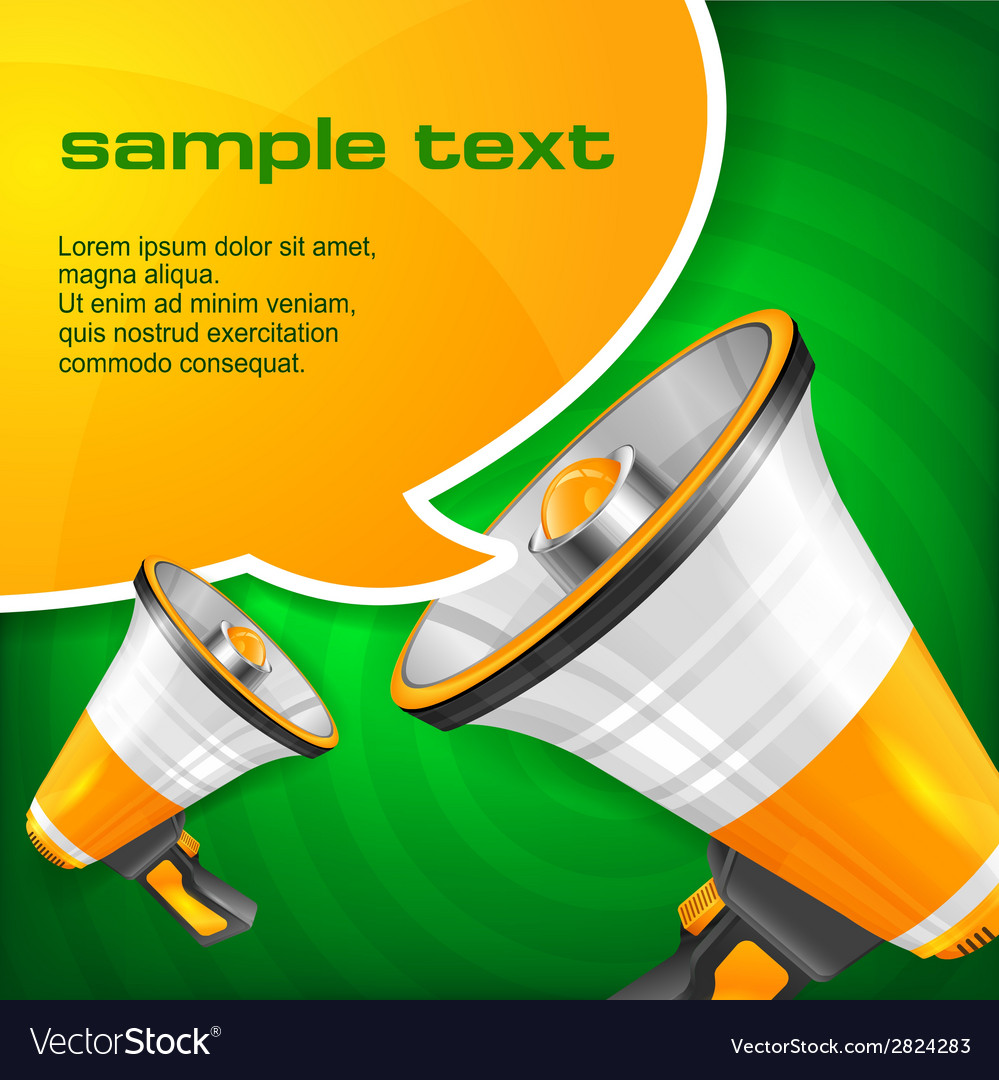 Megaphone and speech bubble vector | Price: 1 Credit (USD $1)