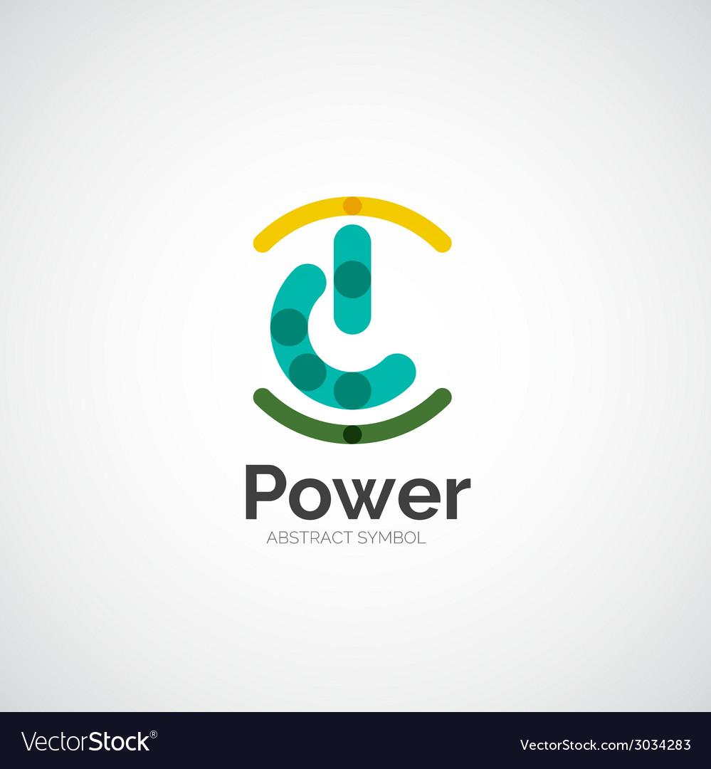 Power button logo design vector | Price: 1 Credit (USD $1)