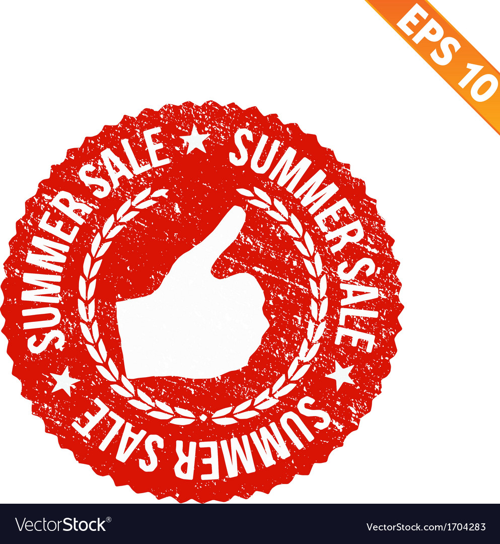 Rubber stamp summer sale - - eps10 vector | Price: 1 Credit (USD $1)