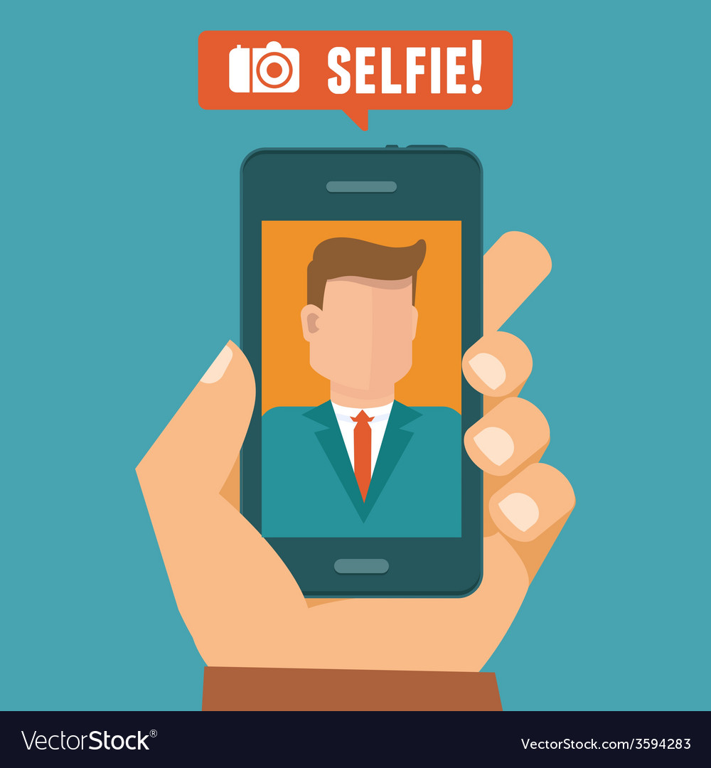 Selfie concept vector | Price: 1 Credit (USD $1)