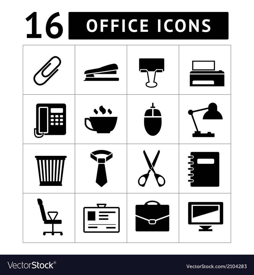 Set icons of office vector   Price: 1 Credit (USD $1)