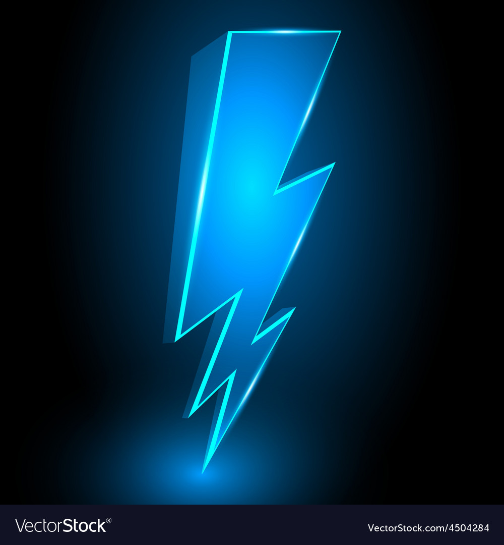 3d sparkling lightning bolt abstract background vector | Price: 1 Credit (USD $1)