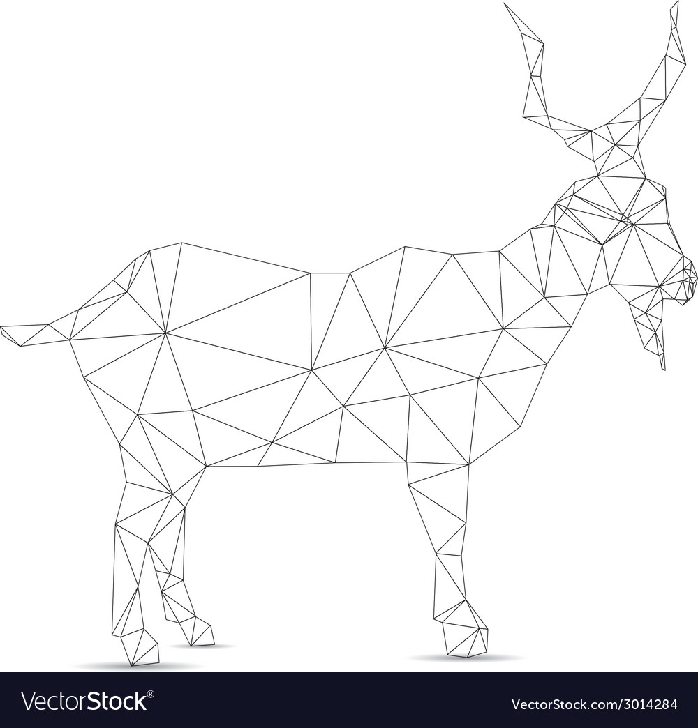 Abstract goat vector | Price: 1 Credit (USD $1)