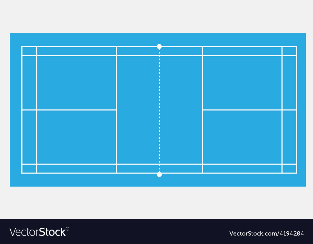Blue badminton court vector | Price: 1 Credit (USD $1)