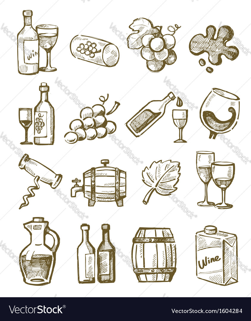Hand draw wine vector | Price: 1 Credit (USD $1)