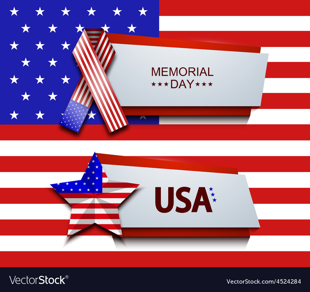 Modern memorial day banners vector | Price: 1 Credit (USD $1)