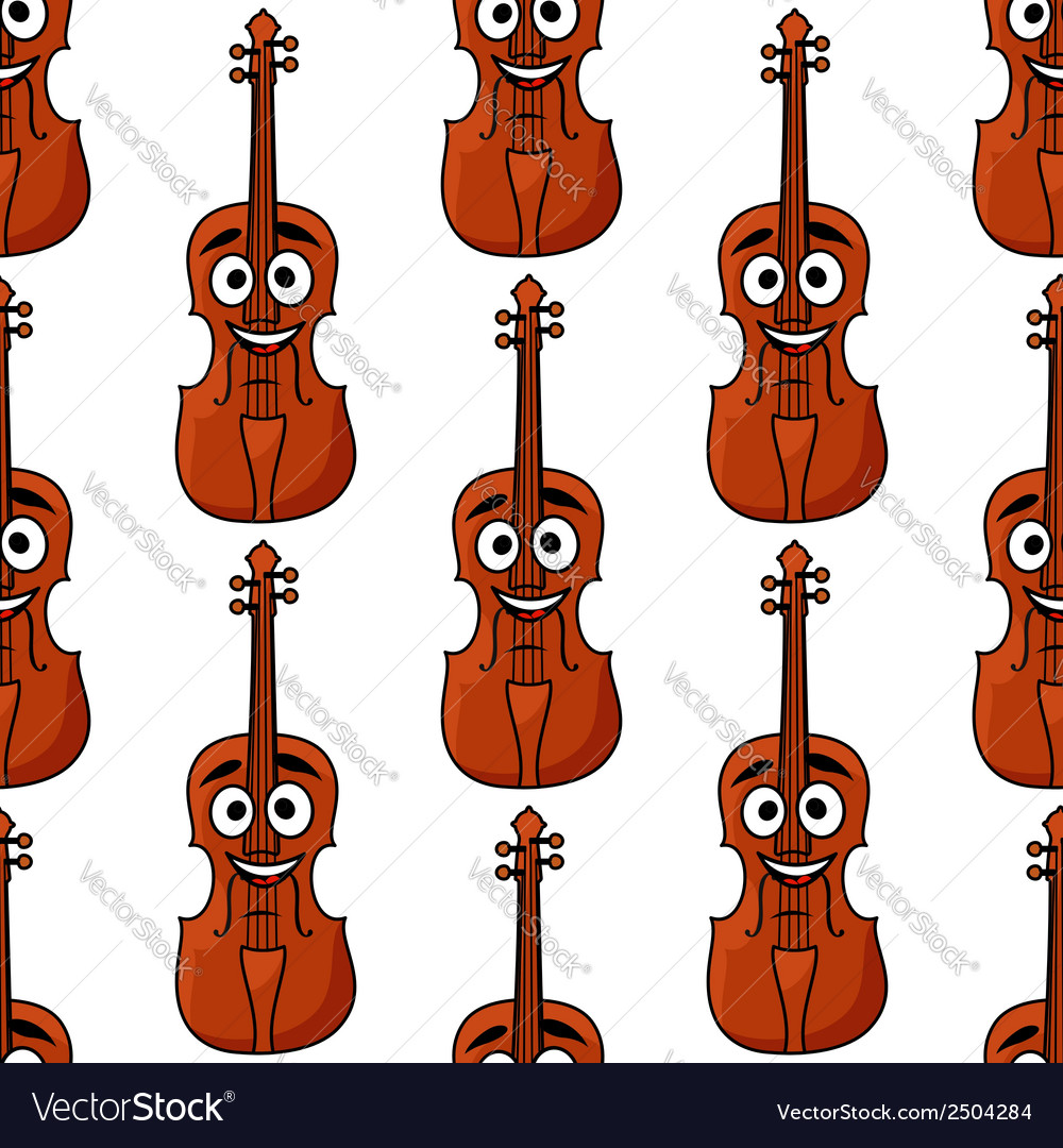 Seamless pattern of classical violins vector | Price: 1 Credit (USD $1)
