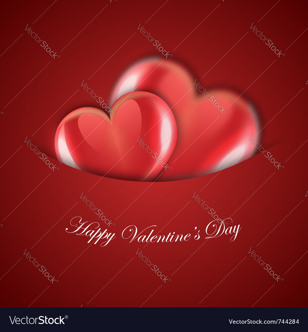 Valentines day red design vector | Price: 1 Credit (USD $1)