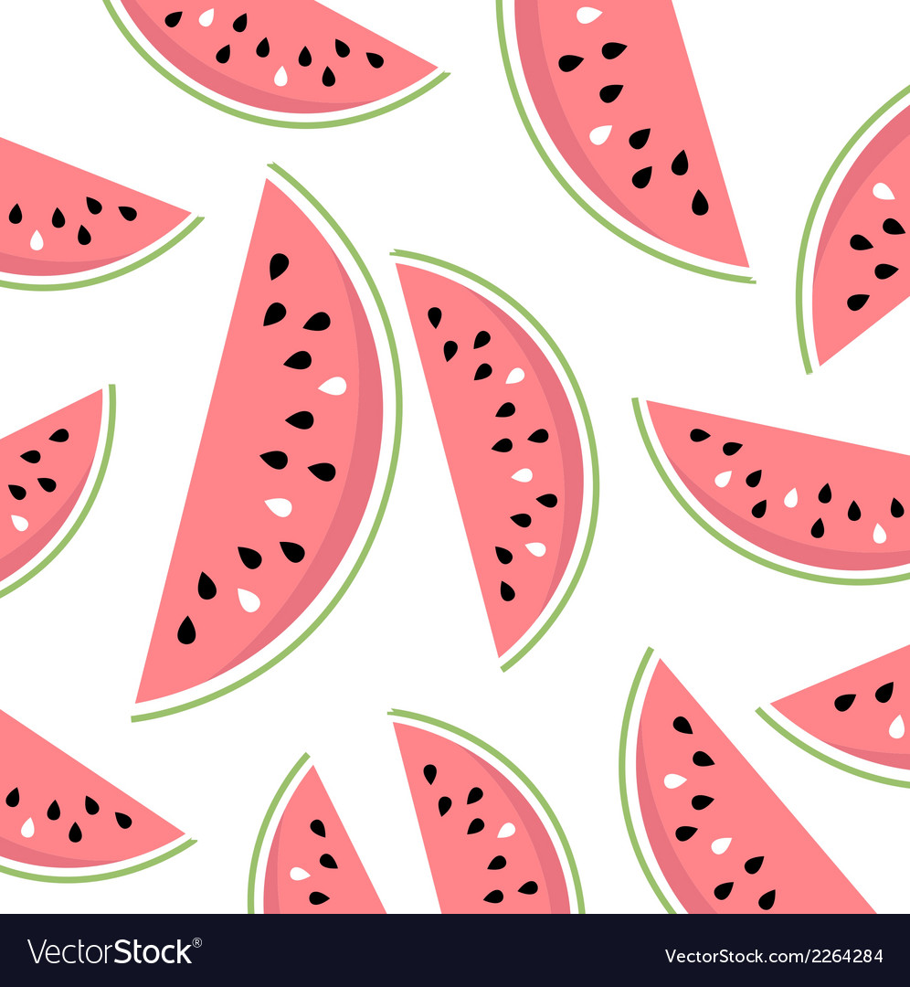 Watermelon slices summer background vector | Price: 1 Credit (USD $1)