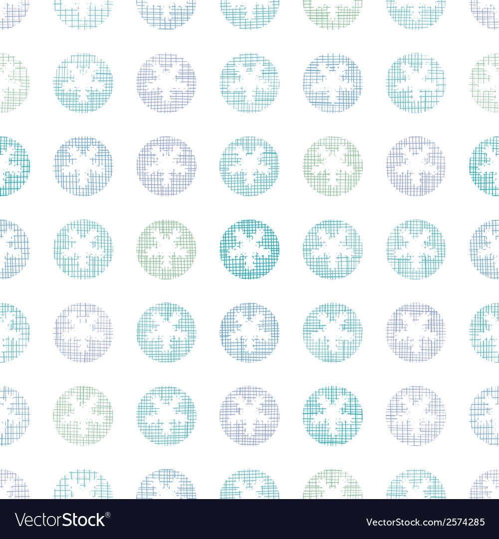 Abstract textile snowflakes dots seamless pattern vector | Price: 1 Credit (USD $1)