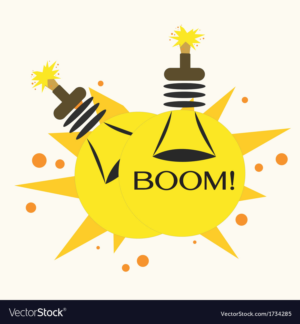 Bulb bomb vector | Price: 1 Credit (USD $1)