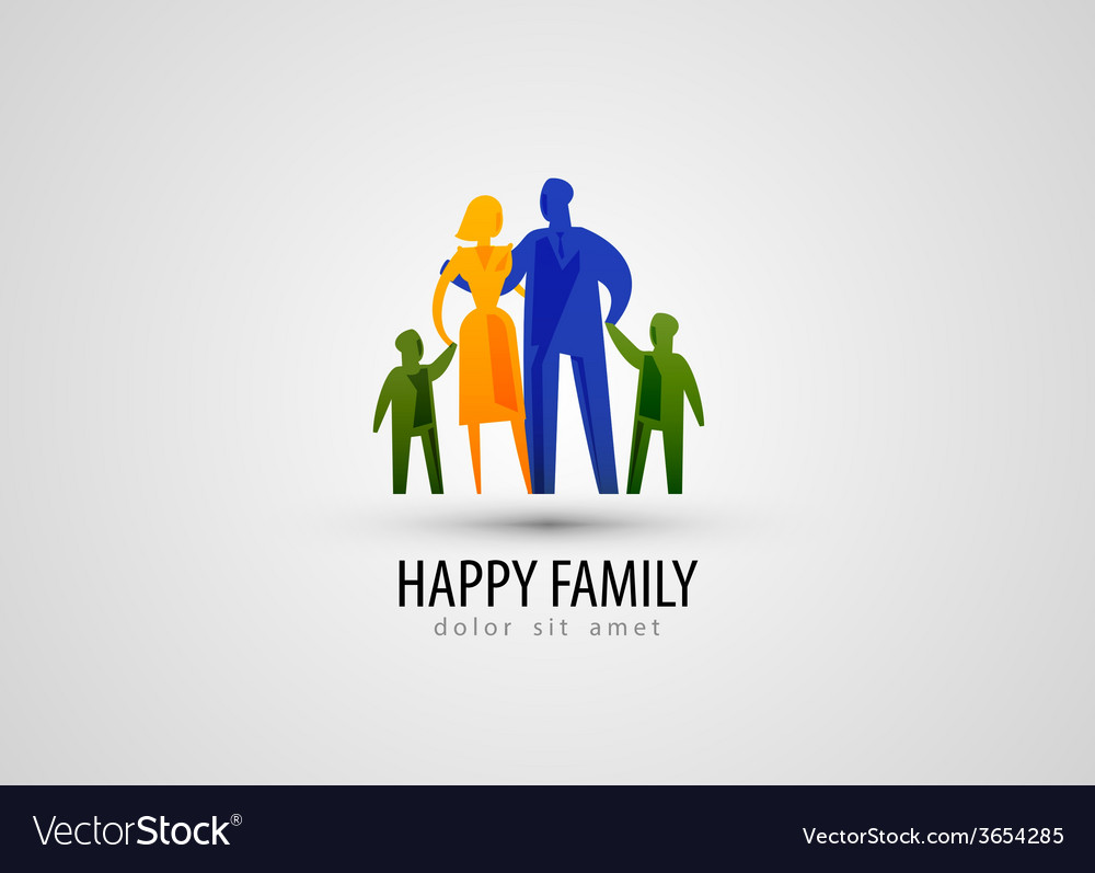 Family logo design template parents or people icon vector | Price: 1 Credit (USD $1)