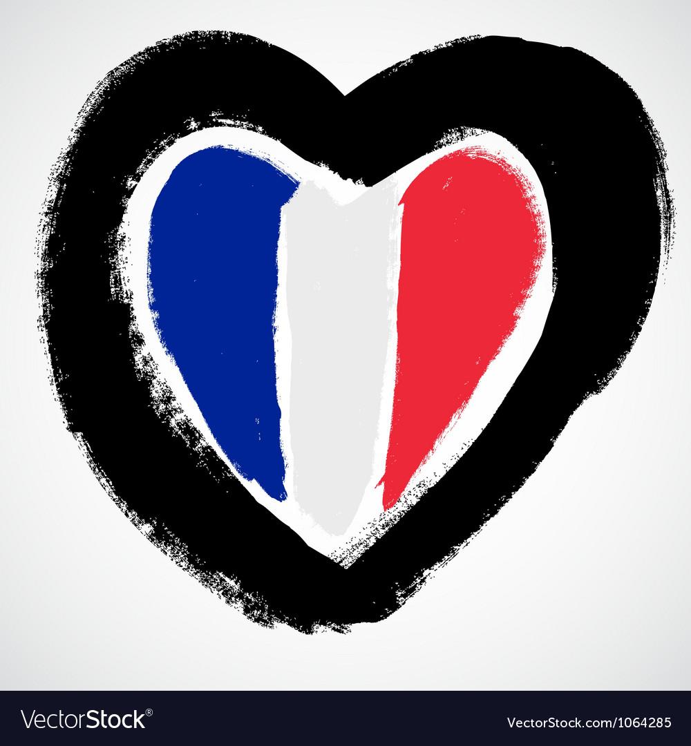 France grunge flag vector | Price: 1 Credit (USD $1)
