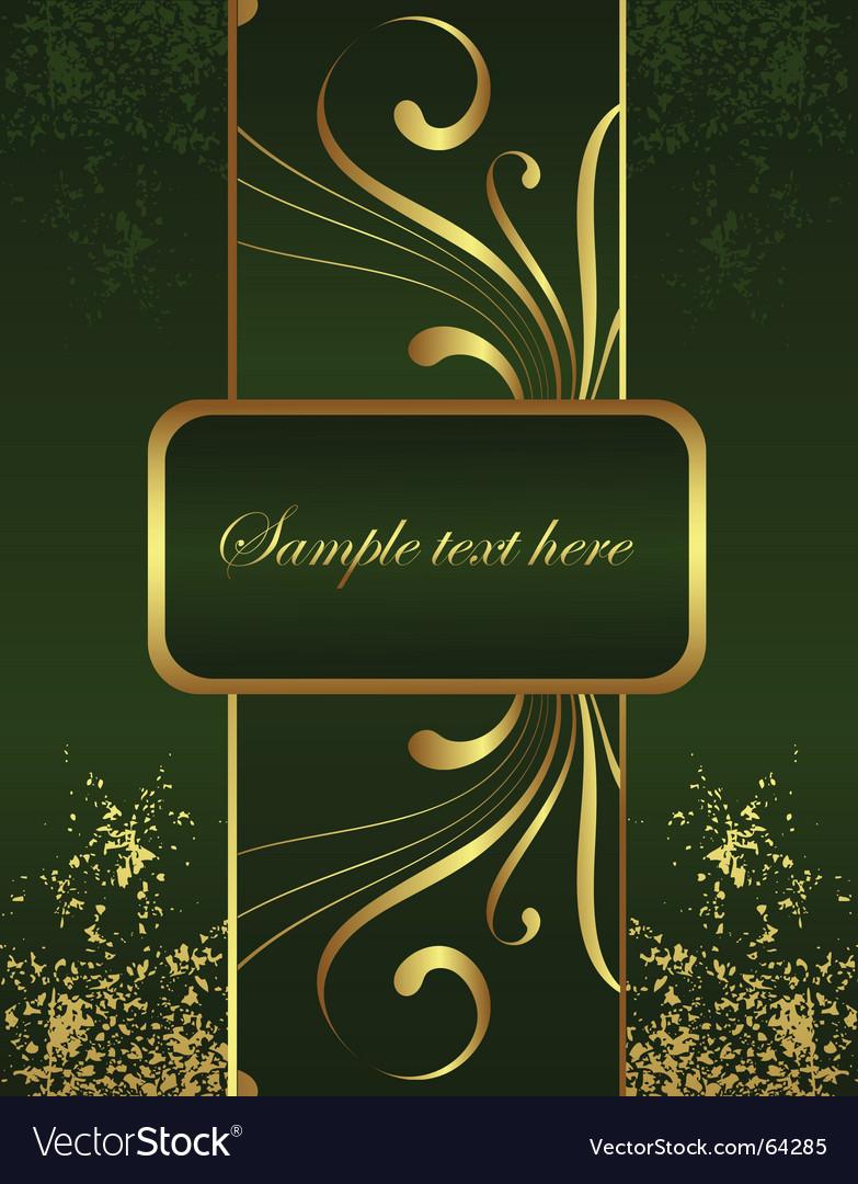 Golden brochure vector | Price: 1 Credit (USD $1)