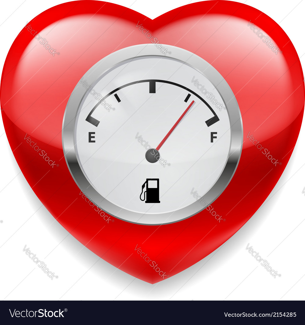 Heart with fuel indicator vector | Price: 1 Credit (USD $1)