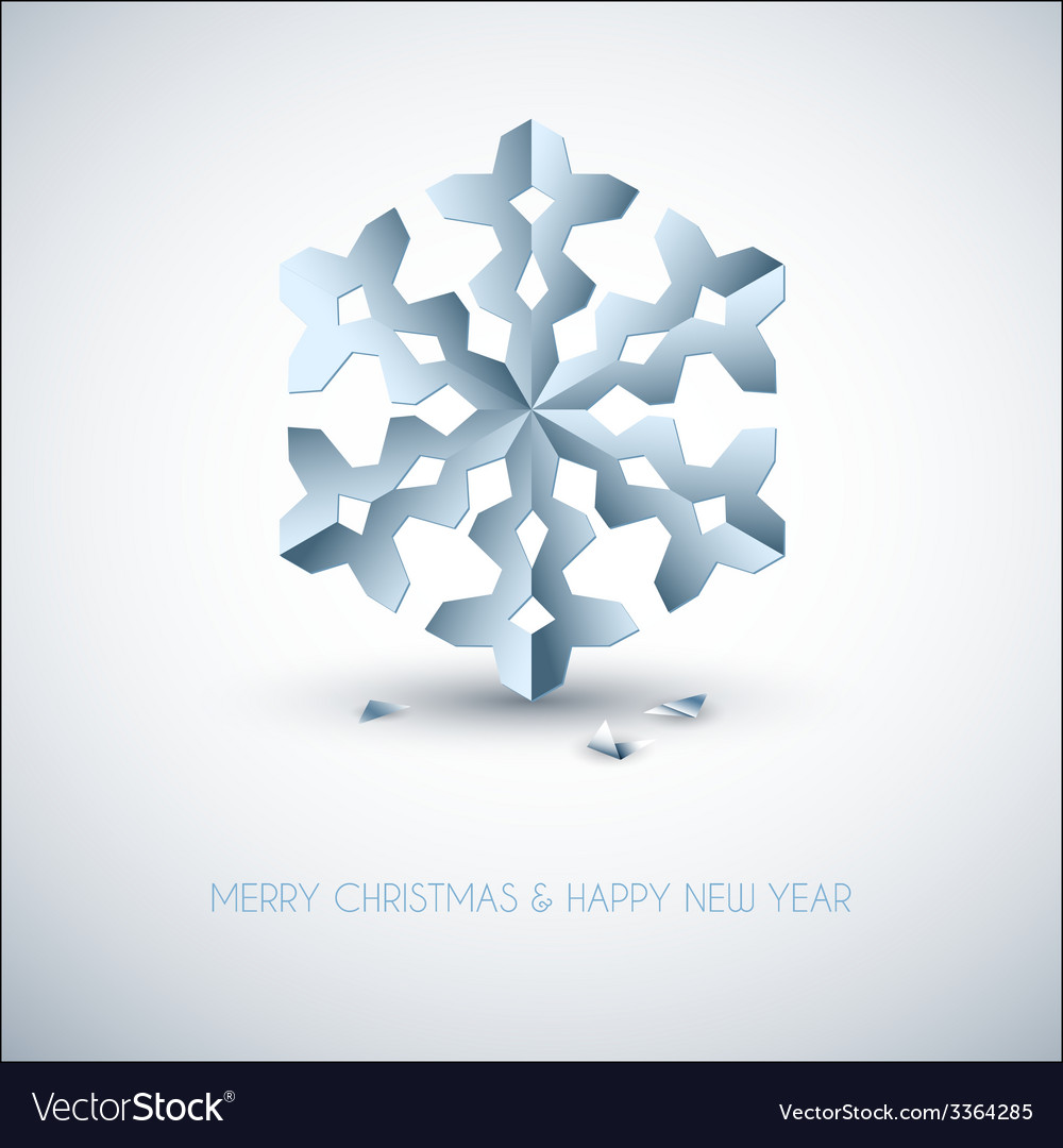 Light blue paper christmas snowflake vector | Price: 1 Credit (USD $1)