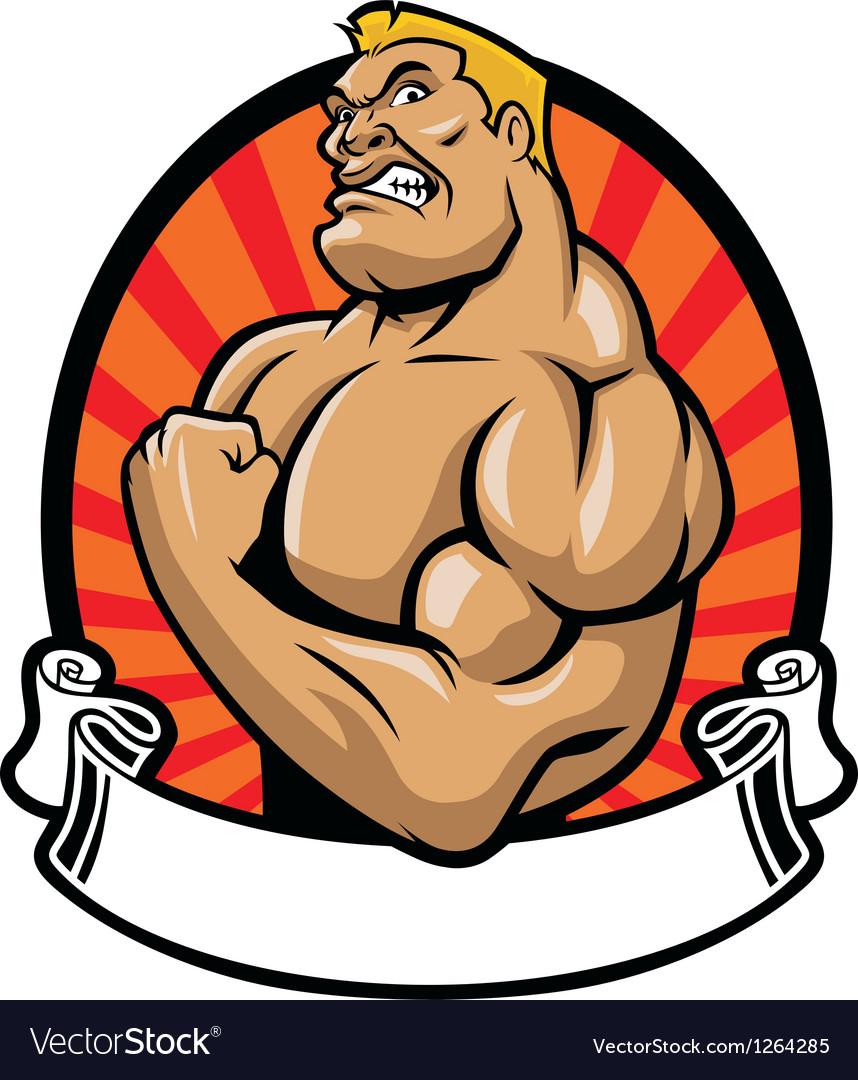 Muscle bodybuilder vector   Price: 3 Credit (USD $3)