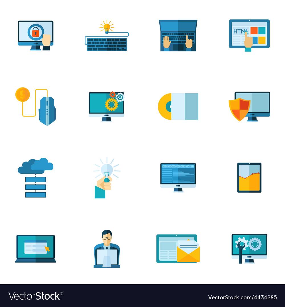 Program development icons set vector | Price: 1 Credit (USD $1)