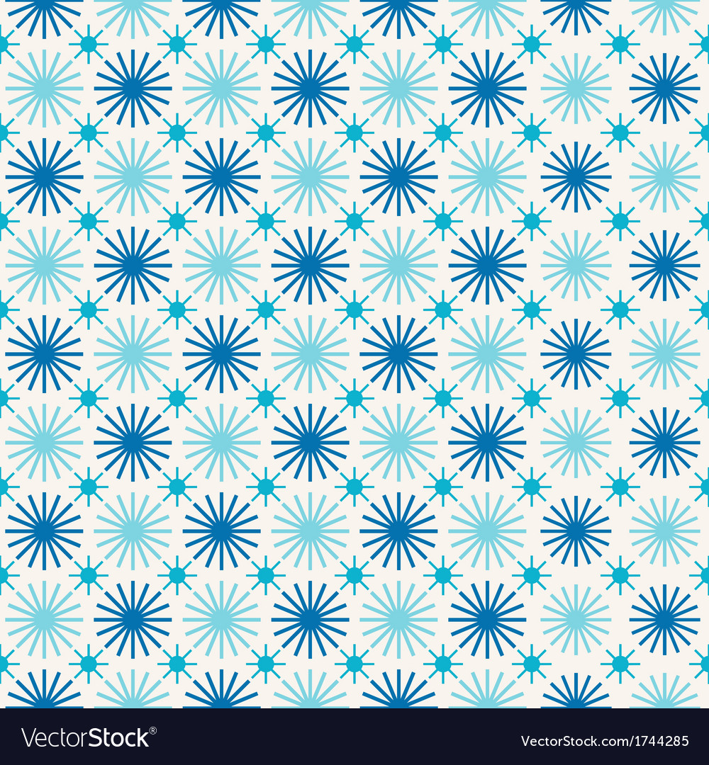 Seamless winter abstract background with snowflake vector | Price: 1 Credit (USD $1)