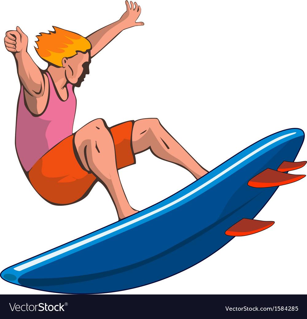 Surfer retro vector