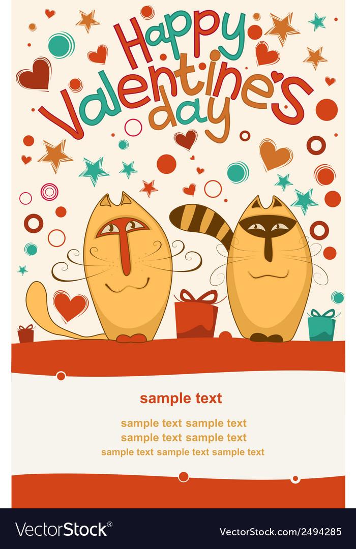 Valentine day cats vector   Price: 1 Credit (USD $1)
