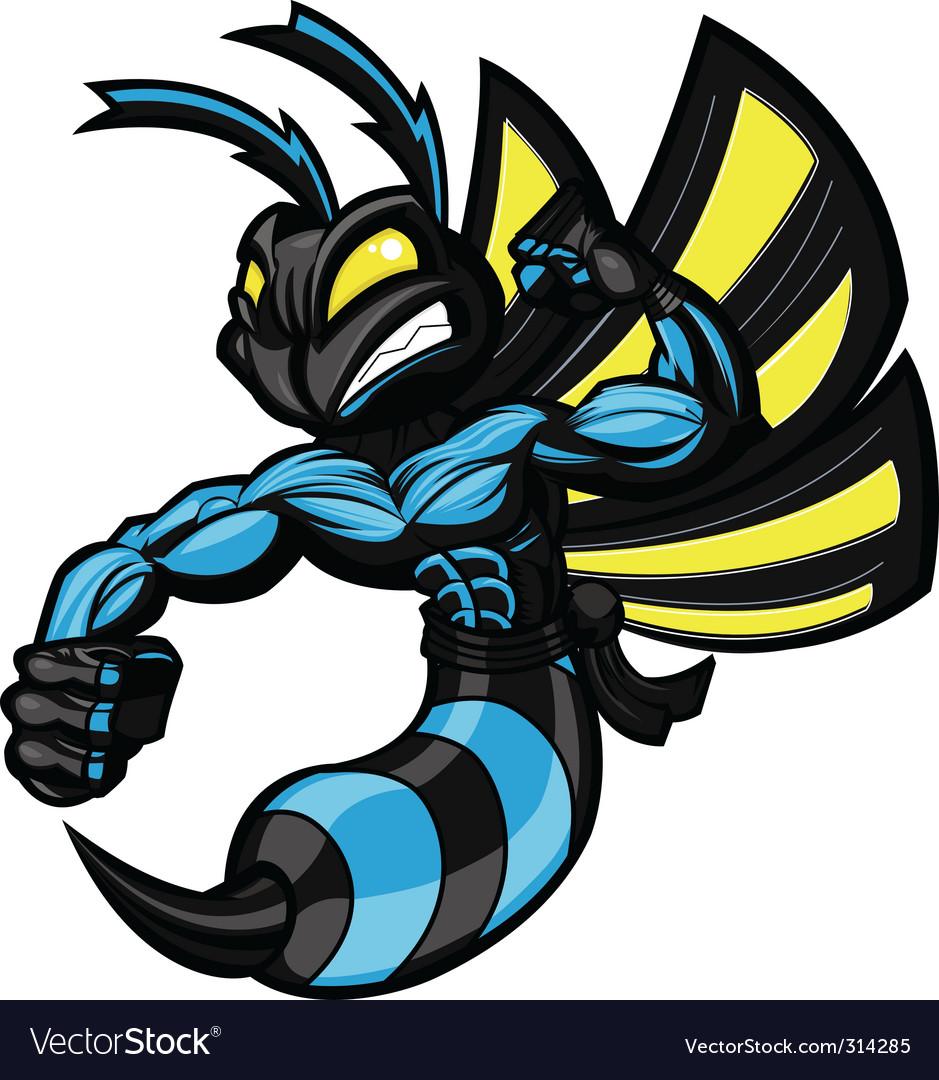 Wasp ninja hornet vector | Price: 3 Credit (USD $3)