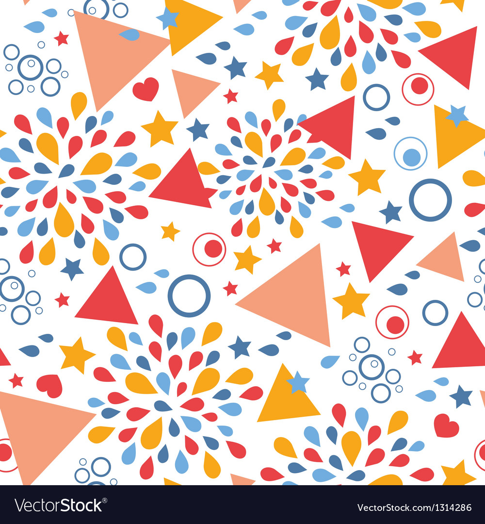 Abstract celebration seamless pattern background vector | Price: 1 Credit (USD $1)