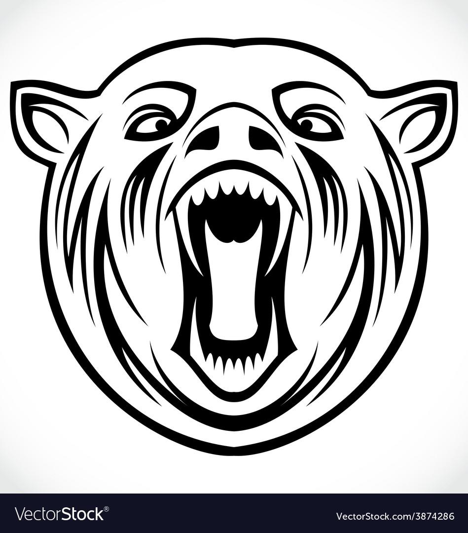 Angry bear tribal vector | Price: 1 Credit (USD $1)