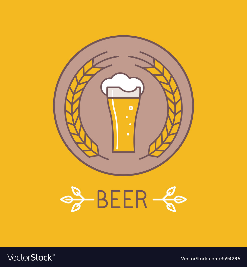 Beer logo and sign vector | Price: 1 Credit (USD $1)