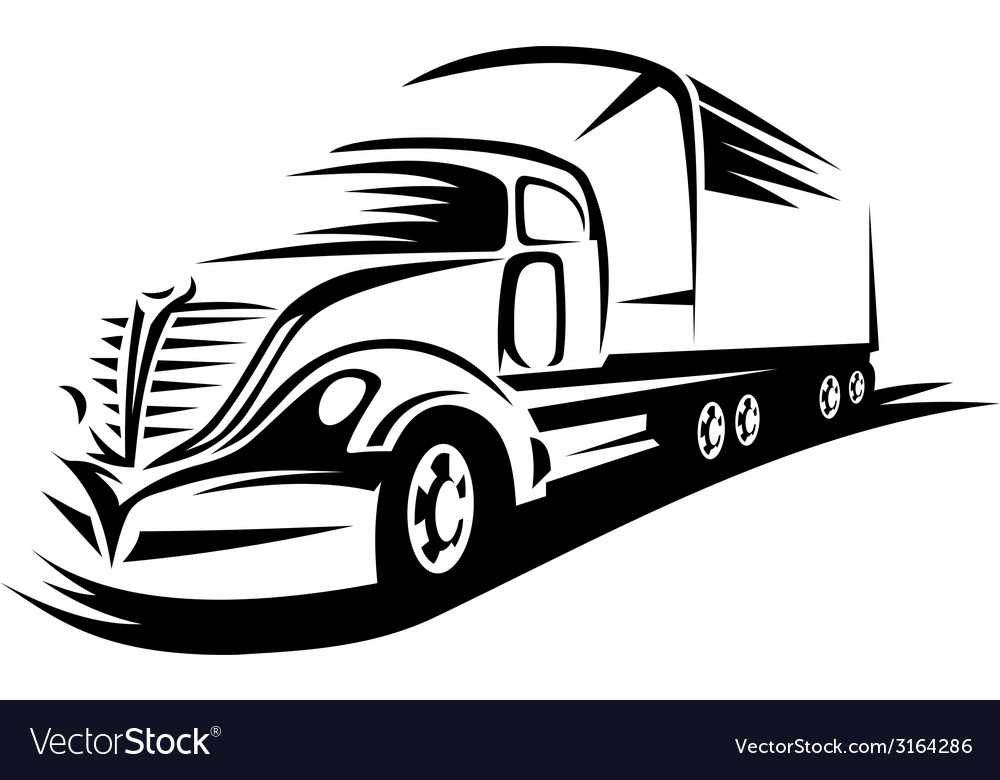 Big delivery truck vector | Price: 1 Credit (USD $1)