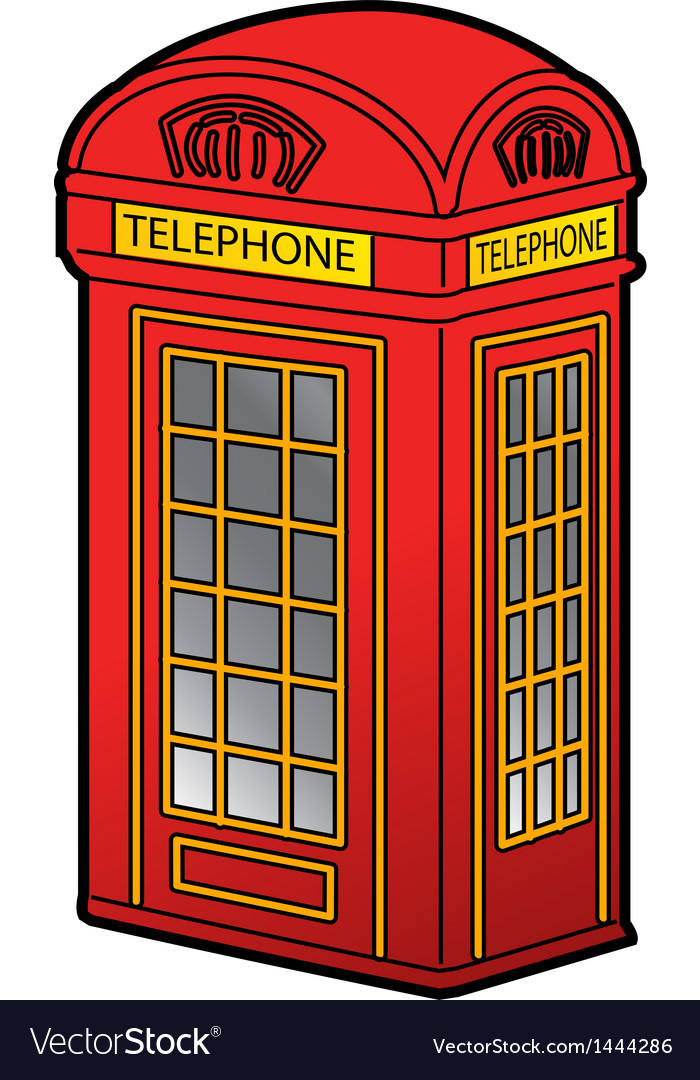 British phone booth vector | Price: 1 Credit (USD $1)