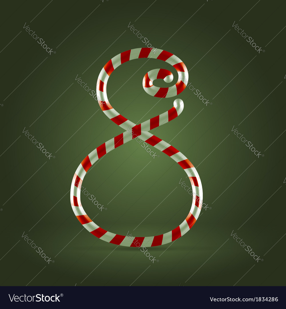Candy cane abc 8 vector | Price:  Credit (USD $)