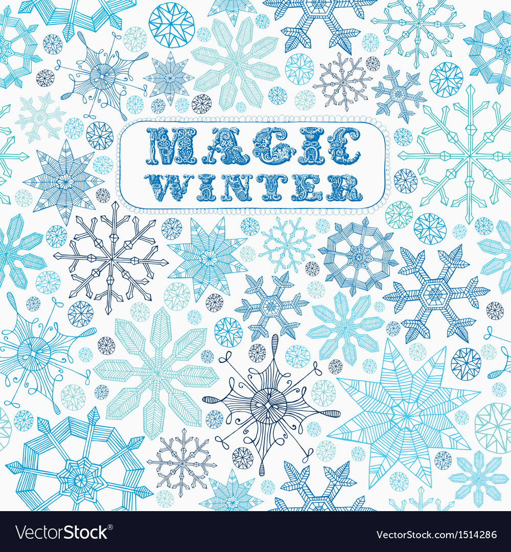Card with snowflakes vector