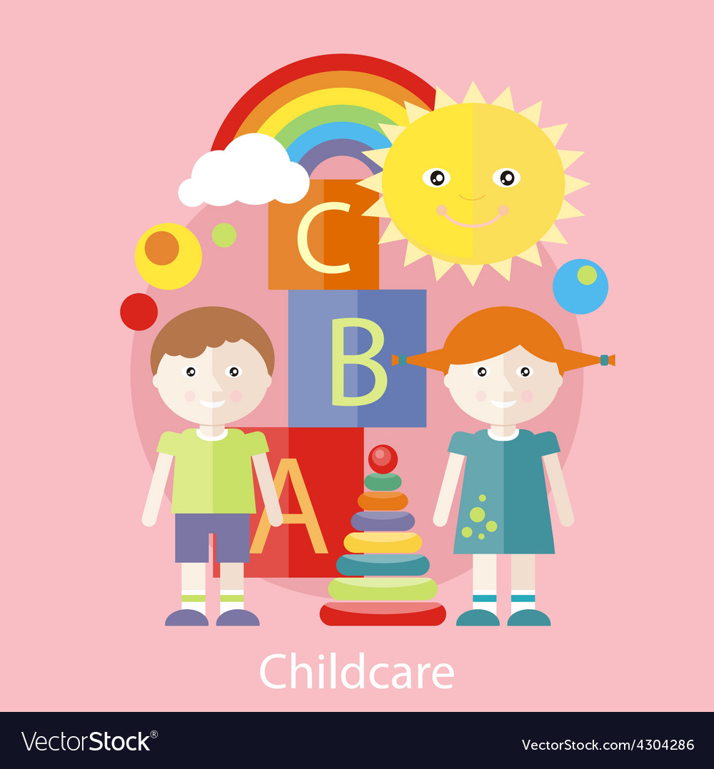 Childcare concept vector | Price: 1 Credit (USD $1)