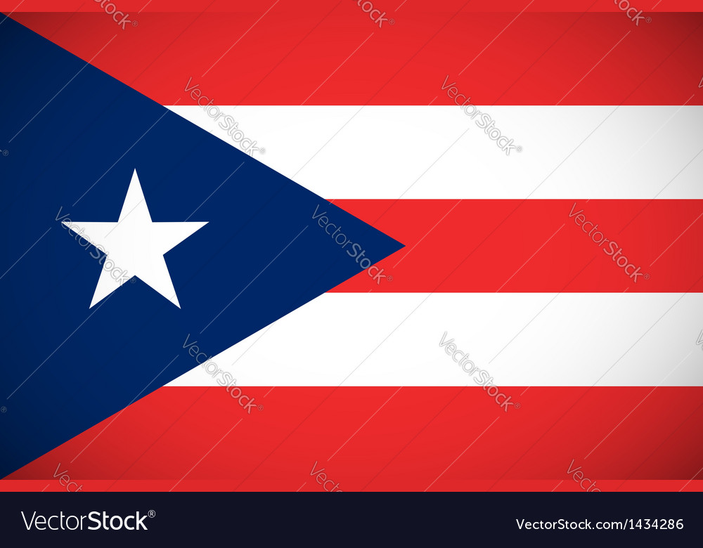 Flag of puerto rico vector | Price: 1 Credit (USD $1)