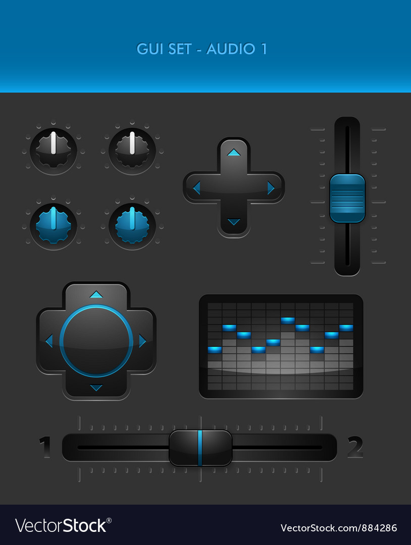 Gui set - audio 1 vector | Price: 1 Credit (USD $1)