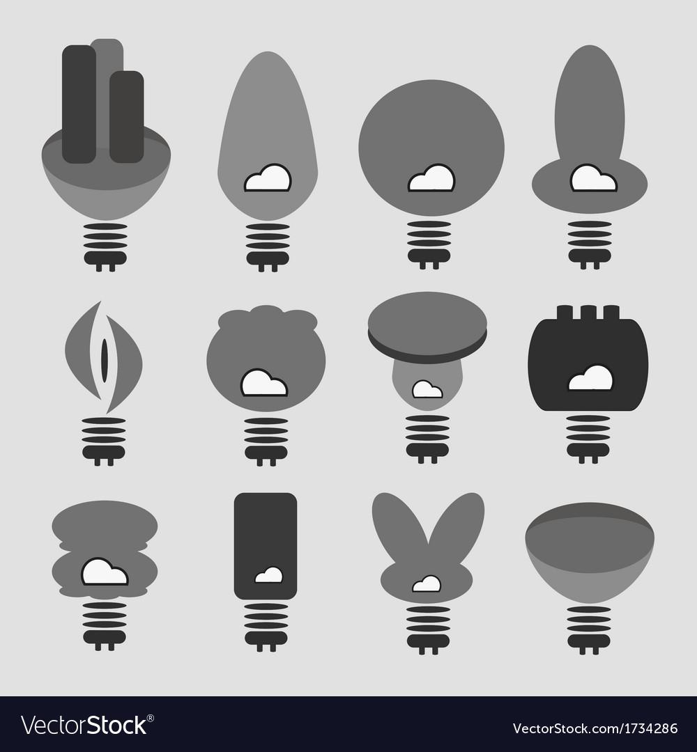 Light bulb idea vector | Price: 1 Credit (USD $1)