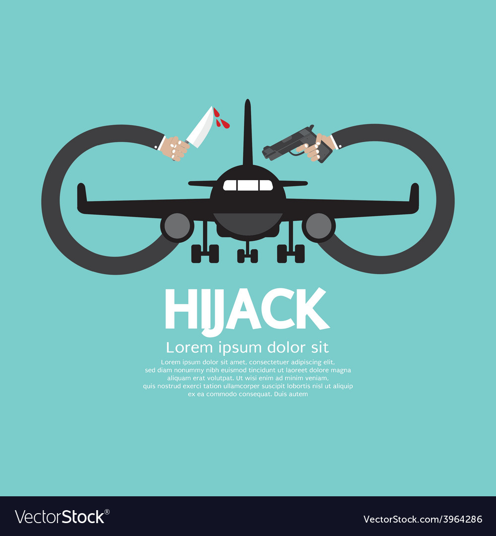 Plane hijack concept abstract design vector | Price: 1 Credit (USD $1)