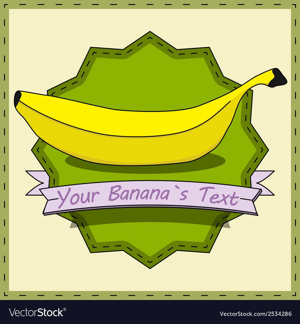 Retro banana vector | Price: 1 Credit (USD $1)