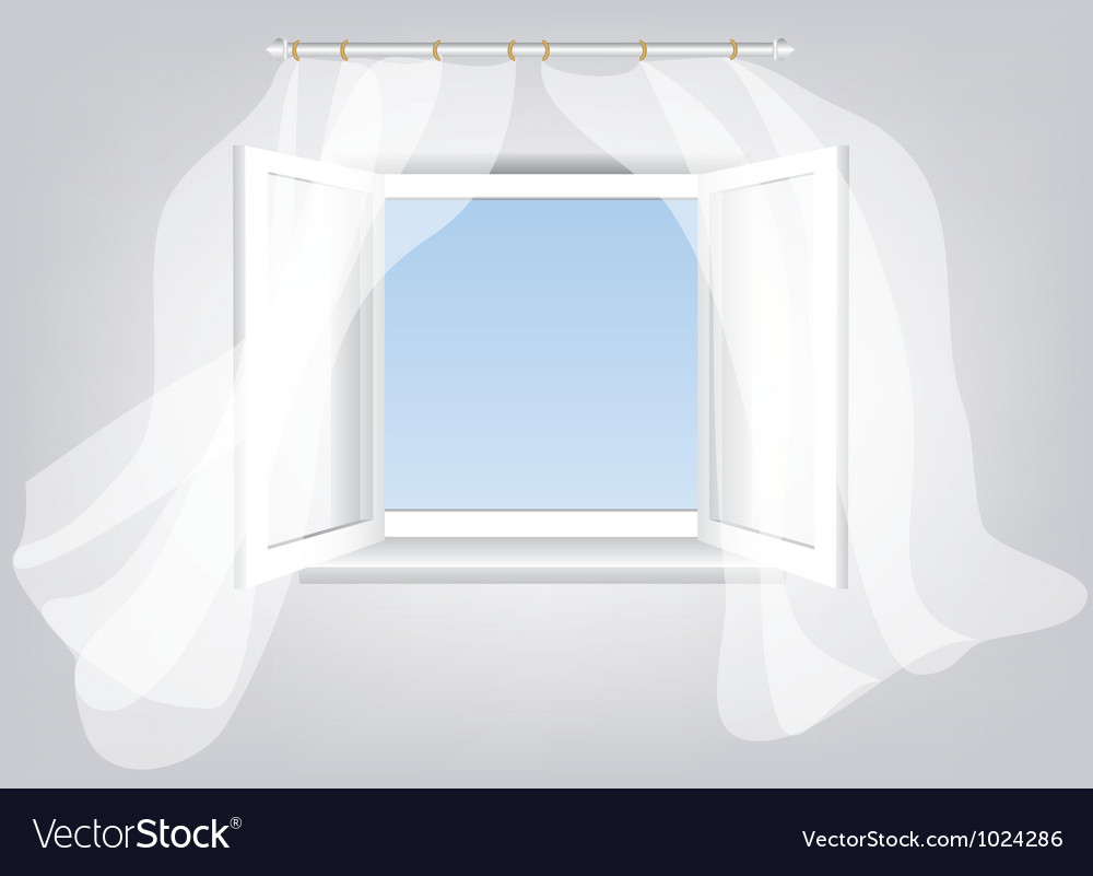 Sky in window vector | Price: 1 Credit (USD $1)