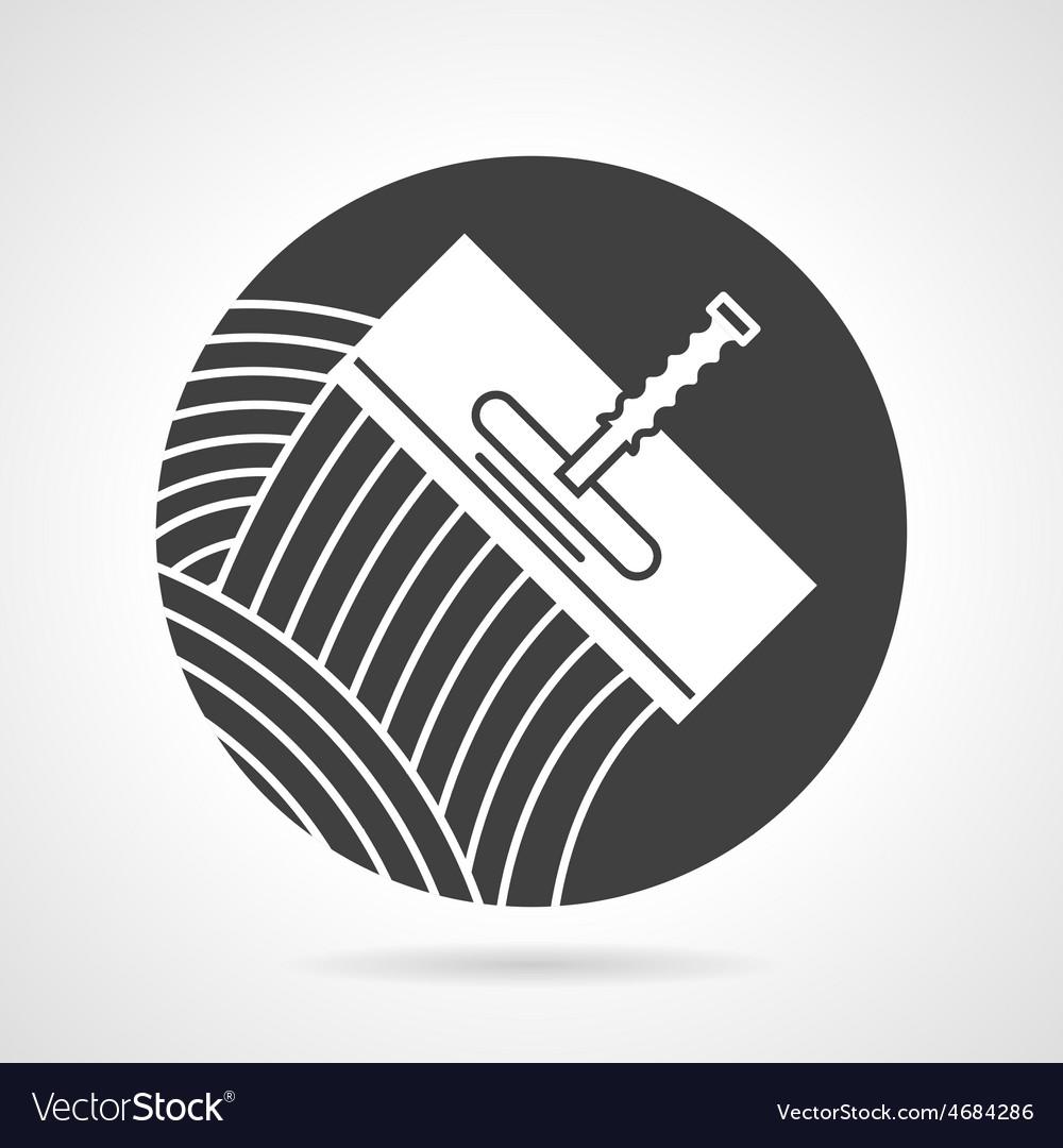 Tile trowel black round icon vector | Price: 1 Credit (USD $1)