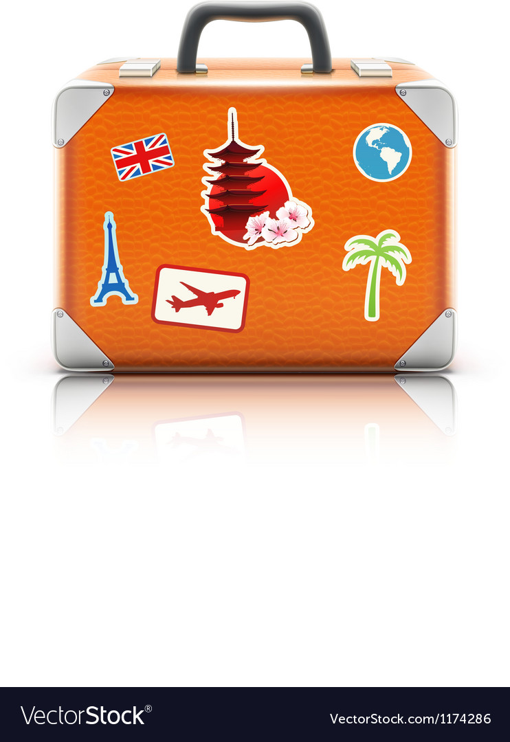 Vintage suitcase vector | Price: 3 Credit (USD $3)