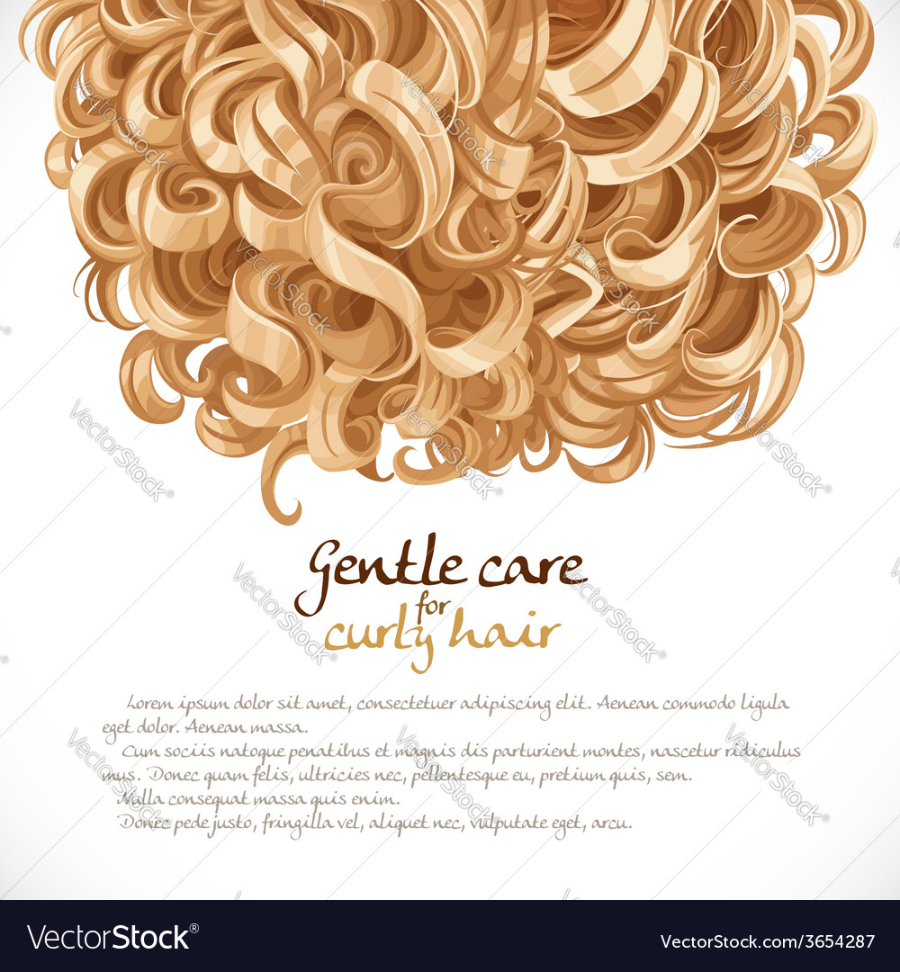 Blond curled hair background vector | Price: 3 Credit (USD $3)
