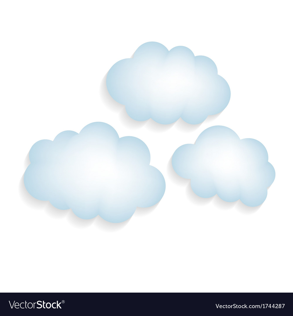 Clouds with a shadow isolated vector | Price: 1 Credit (USD $1)