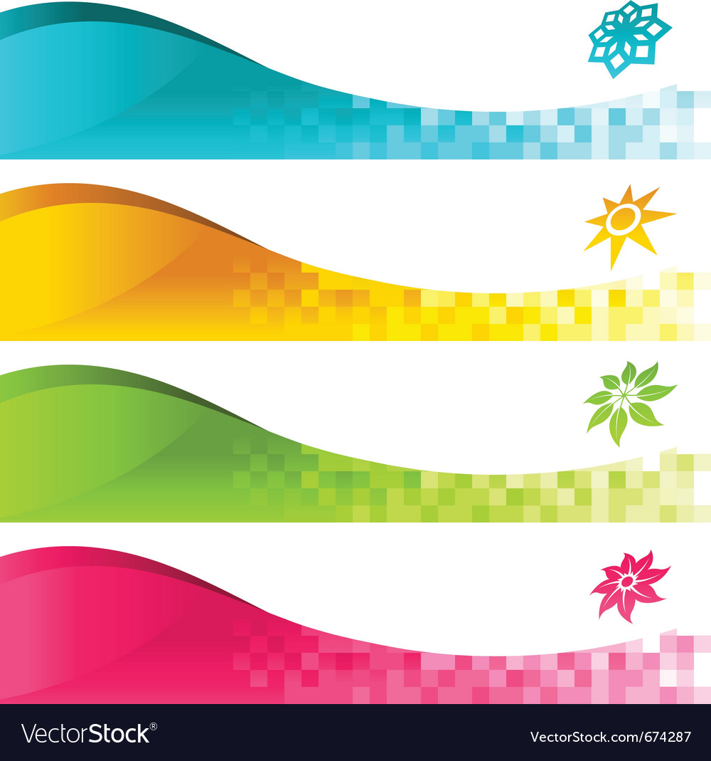 Colorful banner with icons vector | Price: 1 Credit (USD $1)