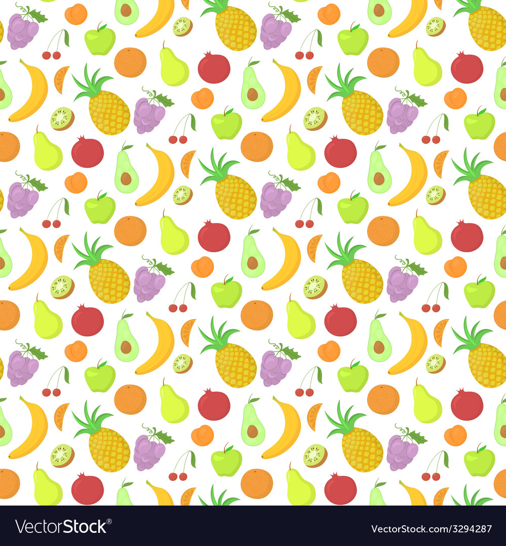 Fruit seamless pattern background with great vector | Price: 1 Credit (USD $1)