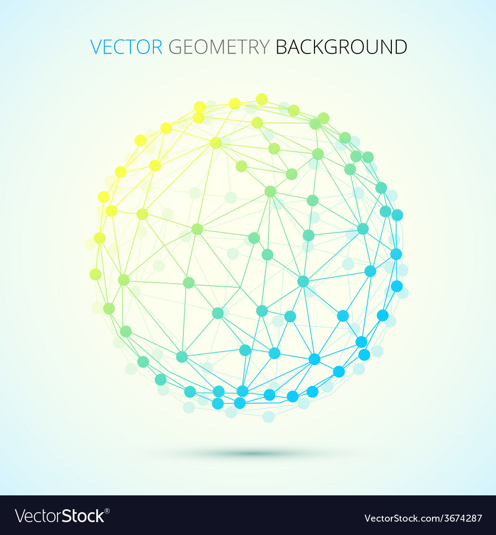 Geometry of connections vector | Price: 1 Credit (USD $1)