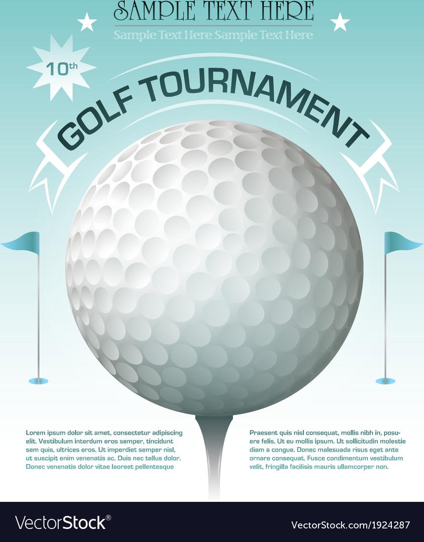 Golf tournament invitation banner background vector | Price: 1 Credit (USD $1)