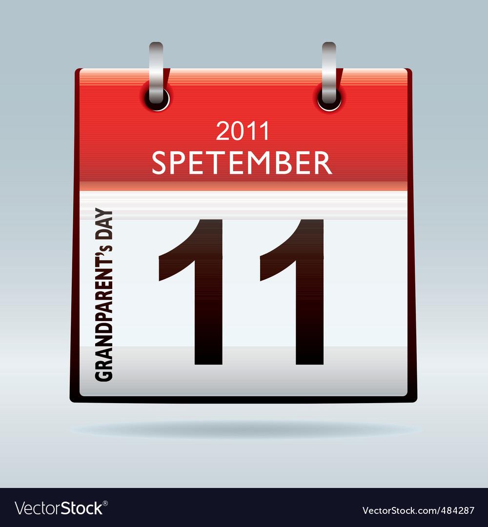 Grandparents calendar icon vector | Price: 1 Credit (USD $1)