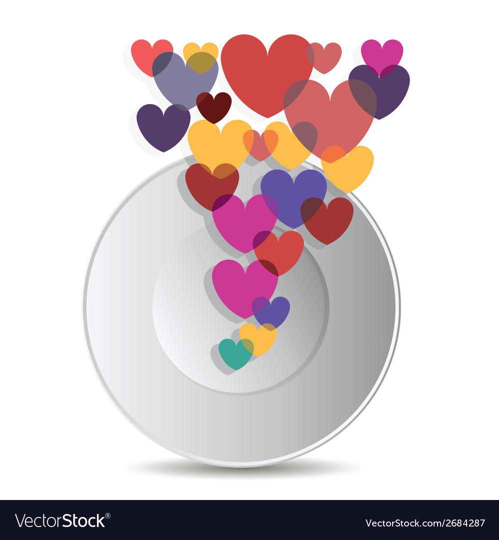 Heart design element vector
